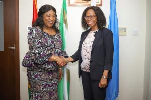 Foreign Affairs Minister, Shirley Ayorkor Botchway and UNDP Rep, Gita Honwana Welch