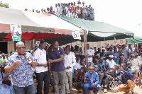 Former President, John Mahama at Zabzugu Constituency