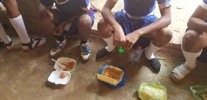 Some of the students who collected the food threw it away after their first taste