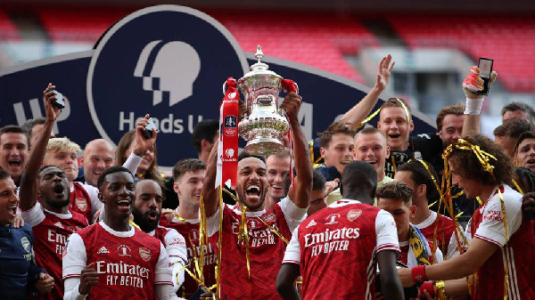 Eddie Nketiah bags first major career trophy as Arsenal defeat Chelsea in FA Cup final