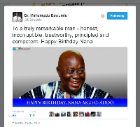 Dr. Bawumia's message to Nana at his 72nd birthday
