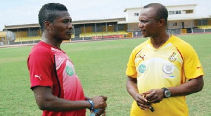 Asamoah Gyan and Kwesi Appiah