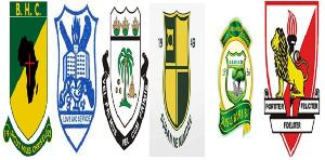 Crests of BIHECO, YAGSHS, ADISCO, PREMPEH COLLEGE, ABUSCO, and TAMASCO