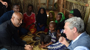 A family of Somali refugees at the Dadaab refugee camp who have lived at the camp for 16 years