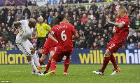 Andre Ayew starred for Swansea City