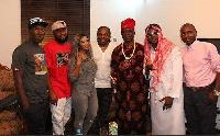 Laura Ikeji and Ogbonna Nwankwo with family members
