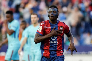 Paco Lopez lauded Boateng's attitude after he scored three times against the Blaugrana on Sunday