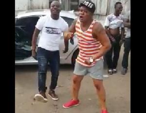 Bukom Banku born Braimah Kamoko on displays dance moves.