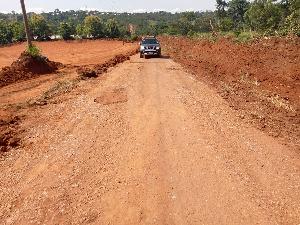 Photo of the newly 65km constructed road at Koforidua-Asesewa-Abuorso