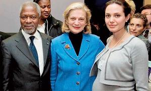 Kofi Annan Angelina Jolie