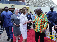 President Akufo-Addo with the US Congress Speaker Nancy Pelosi