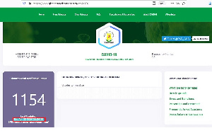 A screenshot of the COVID-19 website during the transition period