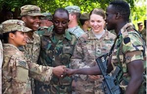 US Ghana Soldiers