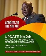 Akufo-Addo to deliver 24th coronavirus address tonight