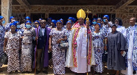 A group picture taken after the thanksgiving service