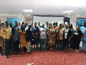 Participants and officials at the launch of the Dubawa Ghana platform
