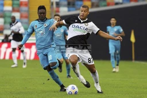 Emmanuel Gyasi serves delicious assist as Spezia record historic serie A victory against Udinese