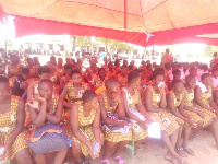 Section of the students of Jirapa SHS during the launching of the School's 25th anniversary