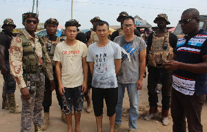 Some Chinese nationals who were arrested recently by Operation Vanguard