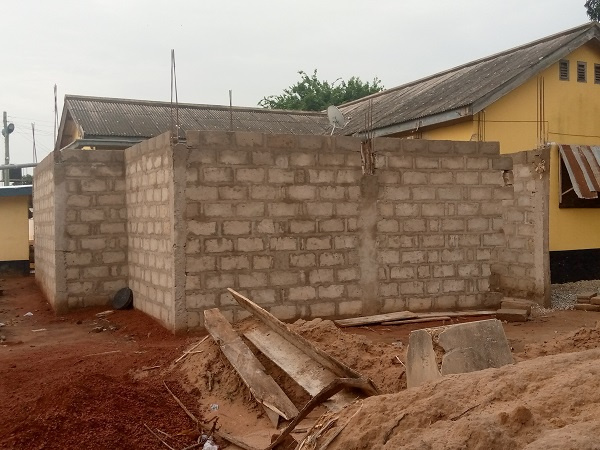 The Asesewa female cells is still under construction