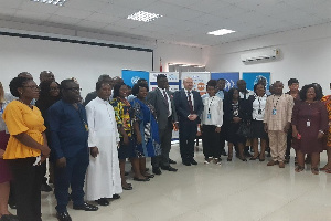 At the commemoration of the World Humanitarian Day in Accra
