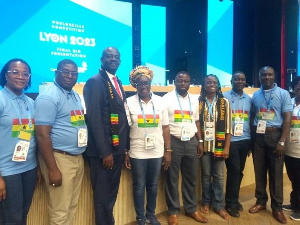 A section of selected Ghanaians at the 81st General Assembly of WorldSkills International at Russia