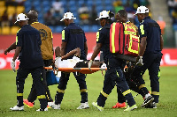 Baba Rahman was taken off in the match against Uganda