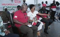 Songstress Mzbel with then President John Dramani Mahama