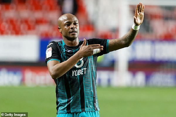 Ghana's Ayew scores in Swansea City's home win