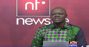 Samson Lardy Anyenini, host of Newsfile