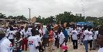 Okere NPP organizes health walk