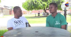 A photograph of Samuel Atta in an interview