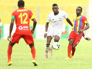 Hearts of Oak lock horns with the Sharks