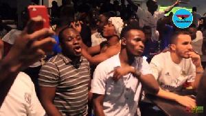 Real Madrid fans in celebration mood