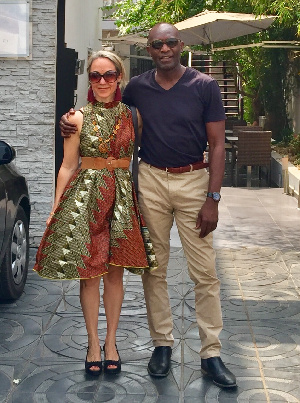 Samed Brimah and his Australian wife Catarina Sestili have big hopes for the Institute