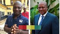 Serial caller and NDC activist, Appiah Stadium and Ex-President John Mahama