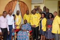 MTN Ghana executives with Asantehene, Otumfuo Osei Tutu II