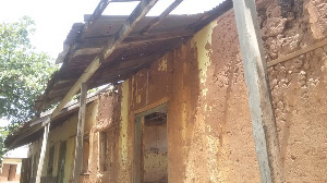 A section of the dilapidated basic school