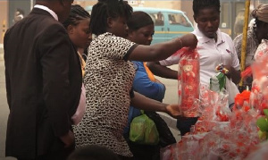 Some buyers making their selection of gifts for their loved ones