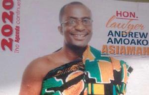 Member of Parliament for Fomena, Amoako Andrew Asiamah