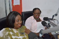 Obuobia Darko [L] and Tina Mensah