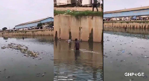 The suspect later came out of the river with the help of some of his friends