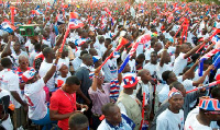 Some NPP sympathizers during a campaign rally