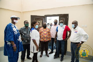 Kwabena Agyepong with Nana Akufo-Addo and some party members