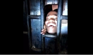 A happy Dr UN in the Police cells
