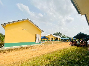 The six-unit classroom block was constructed by GNPC