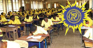 File photo of students sitting for exams