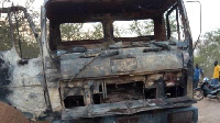 Tipper trucks used to transport sand in Kumbungu were burnt by members of the Operation Vanguard