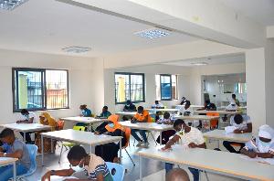 Some students undertaken the scholarship exam