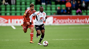 Gilbert Koomson in action for his side